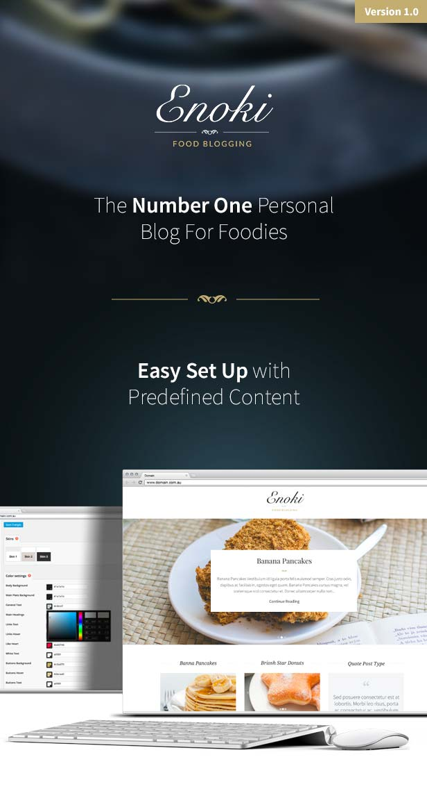 Enoki - Personal Blog For Foodies