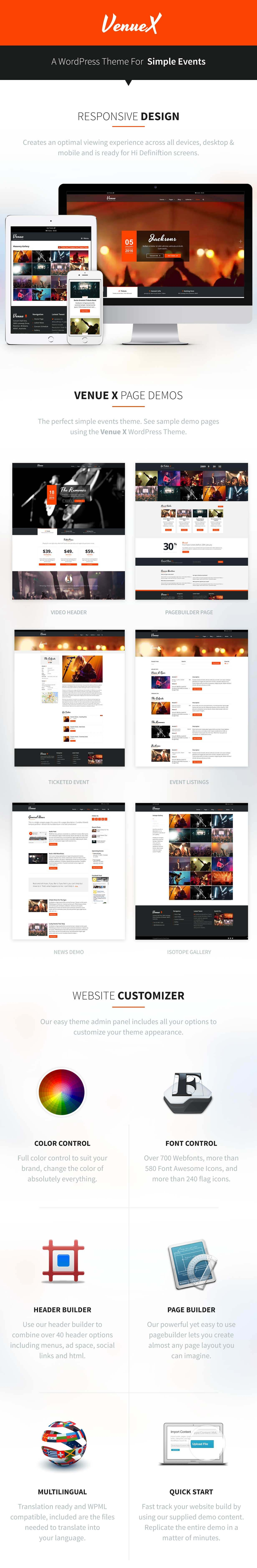 Venue X WordPress by Theme Canon